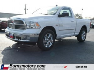 new Bright White 2017 RAM 1500 Lone Star 4x4 with Lt Frost Beige/Brown Interior located in McAllen
